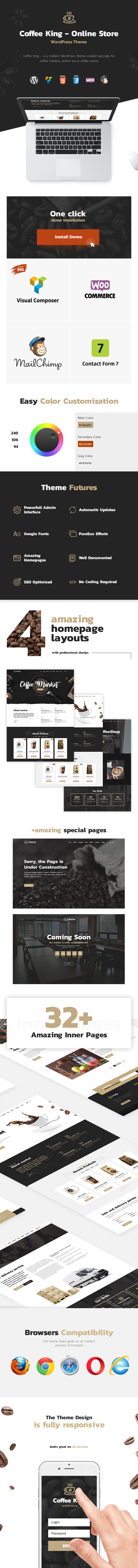 CoffeeKing - Coffee Shop & Drinks Online Store WordPress Theme - 3